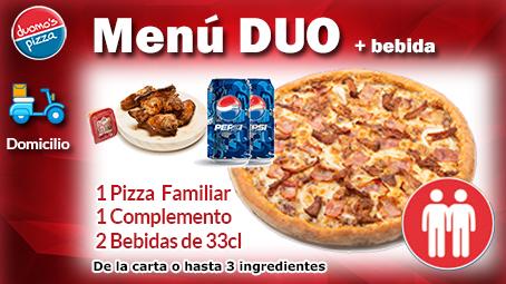 Duomos Pizza Domicilio Menu Duo Bebida