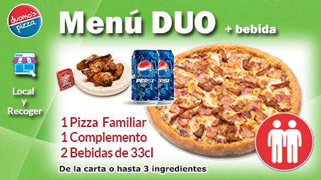 Duomos Pizza Menu Duo Bebida Local Recoger