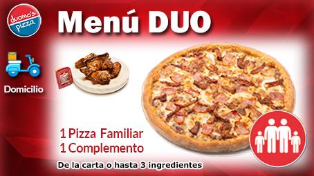 Duomos Pizza Domicilio Menu Duo