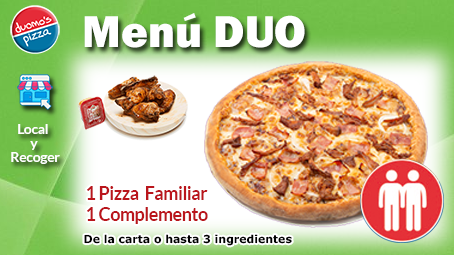 Duomos Pizza Menu Duo Local Recoger