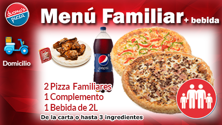Duomos Pizza Domicilio Menu Familiar Bebida