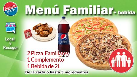Duomos Pizza Menu Familiar Local Recoger
