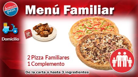 Duomos Pizza Domicilio Menu Familiar